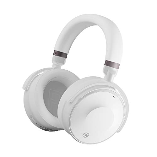 Yamaha YH-E700A kabellose Over-Ear Kopfhörer weiß – Advanced Active Noise Cancelling Kopfhörer mit 35 h Akkulaufzeit und Freisprechfunktion