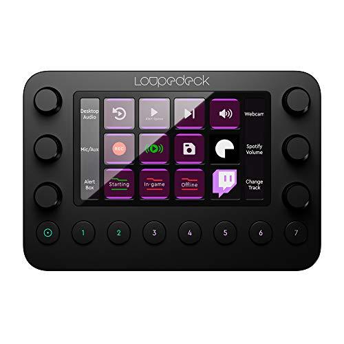 Loupedeck Live – Die flexible Konsole für Live Streaming, Foto- und Video-Bearbeitung mit frei belegbaren Buttons, Reglern und LED-Touchscreen