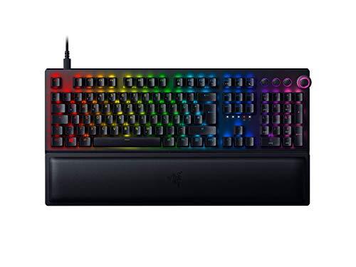 Razer BlackWidow V3 Pro (Green Switch) - Kabellose Gaming Tastatur mit mechanischen Schaltern (Taktil & klickend, Handballenauflage, Medientasten, RGB Chroma) QWERTZ | DE-Layout, Schwarz