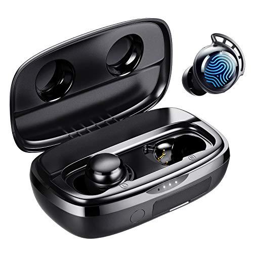Bluetooth Kopfhörer in Ear, Tribit 100 Std. Spielzeit USB-C Ladebox Schnellladung, Bluetooth 5.0 IPX8 Wasserdicht, Touch Sensoren, in-Ear Deep Bass Eingebautes Mic Kabellose Kopfhörer, FlyBuds 3