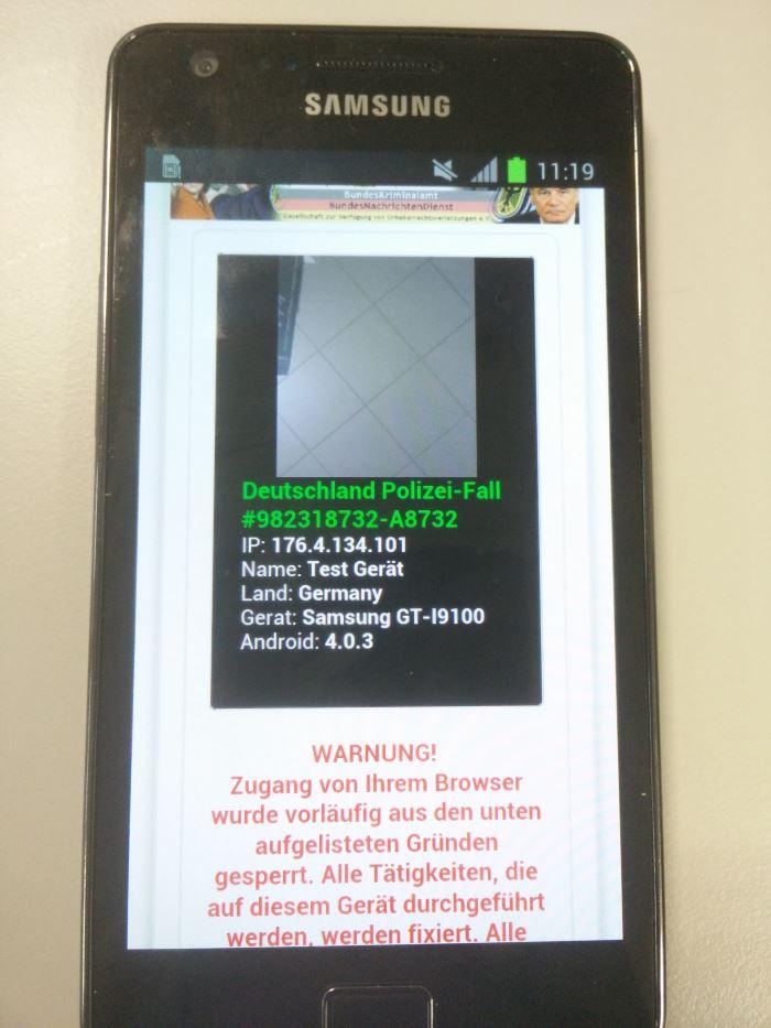 Polizei Virus Android Entfernen
